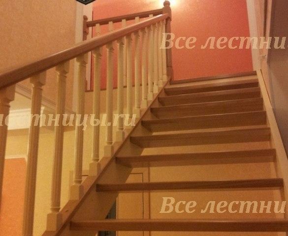 Деревянная лестница D-38 2