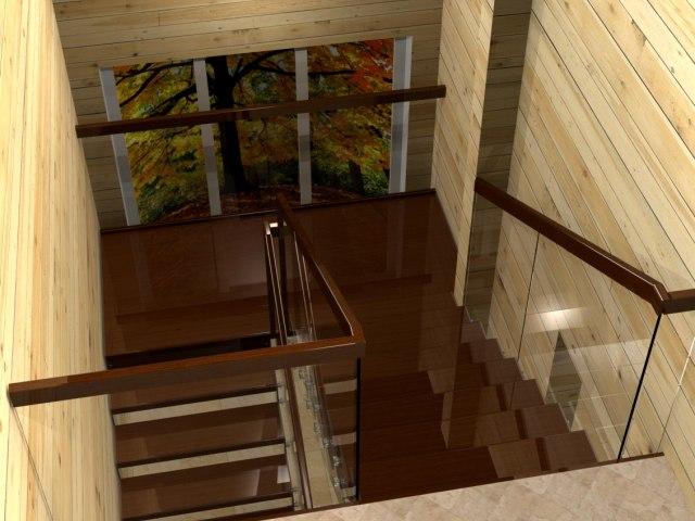 Лестница на металлическом каркасе ДМС-1 2