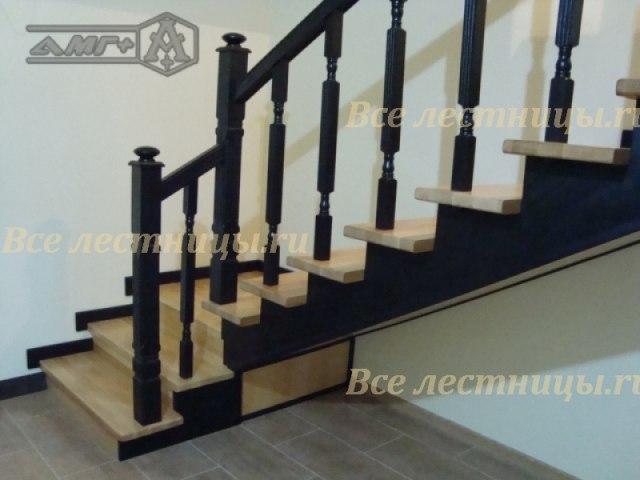 Деревянная лестница D-3 1