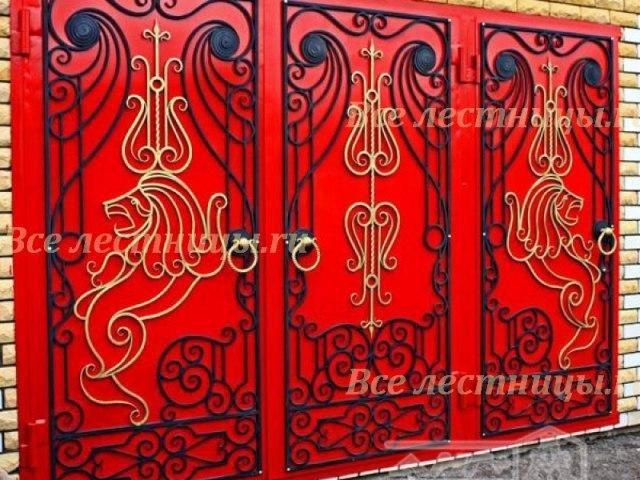 Кованые ворота Z-02 1