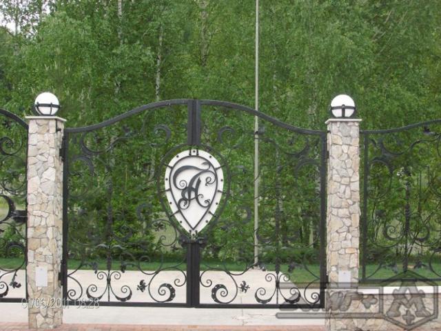 Кованые ворота Z-06 1
