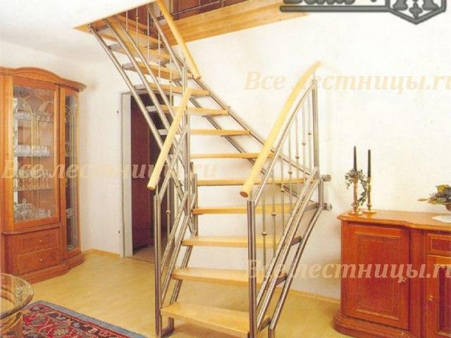 Лестница на металлическом каркасе M-09 1