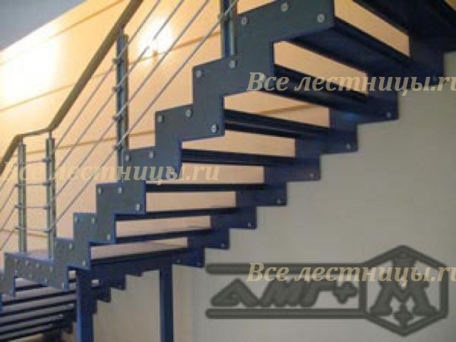 Лестница на металлическом каркасе M-1 1