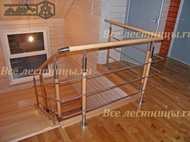 Металлическое лестничное ограждение MO-02 1