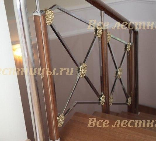 Металлическое лестничное ограждение MO-03 1