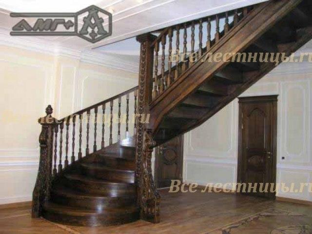 Деревянная лестница D-6 1