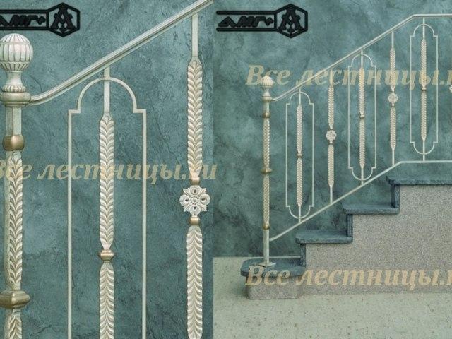 Металлическое лестничное ограждение MO-06 1