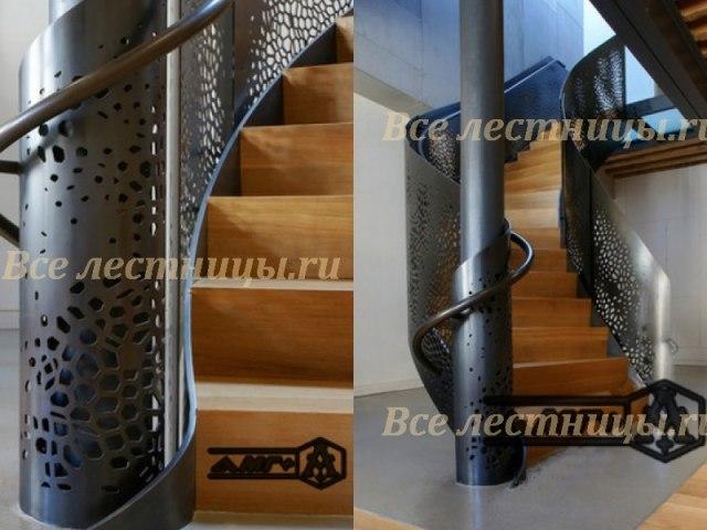 Металлическое лестничное ограждение MO-11 1