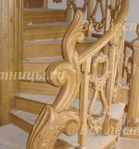 Деревянное лестничное ограждение DO-3 1