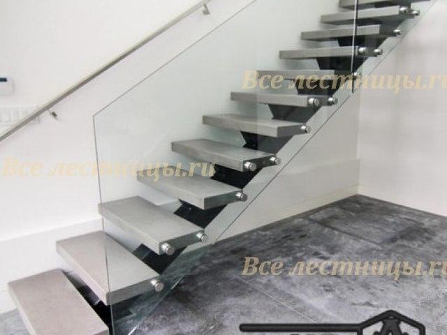 Стеклянное лестничное ограждение SO-5 1