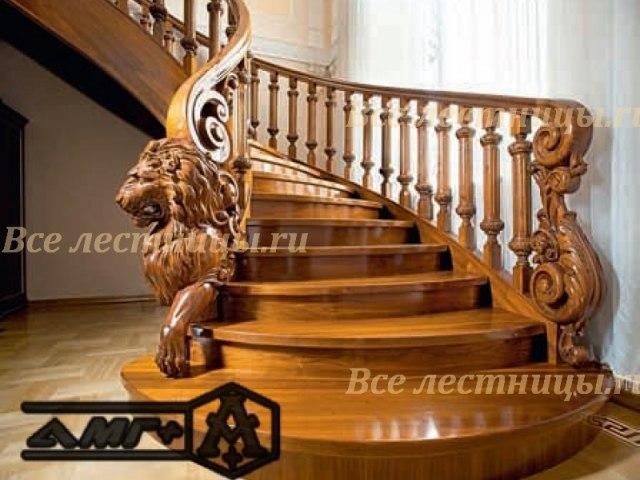 Деревянное лестничное ограждение DO-4 1