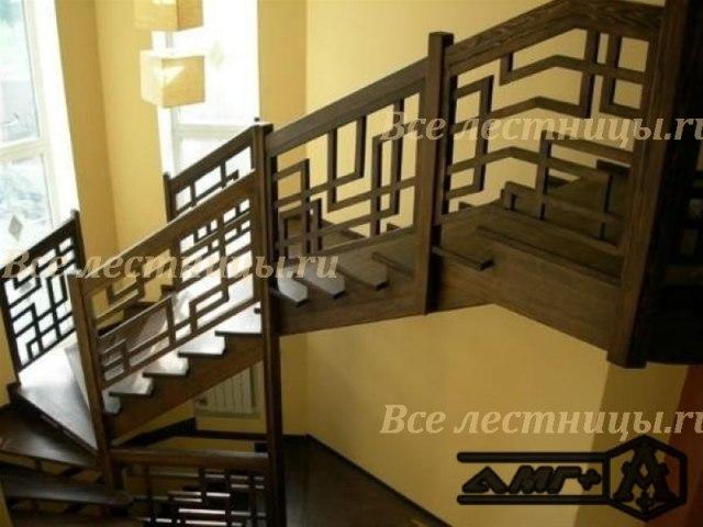 Деревянное лестничное ограждение DO-7 1