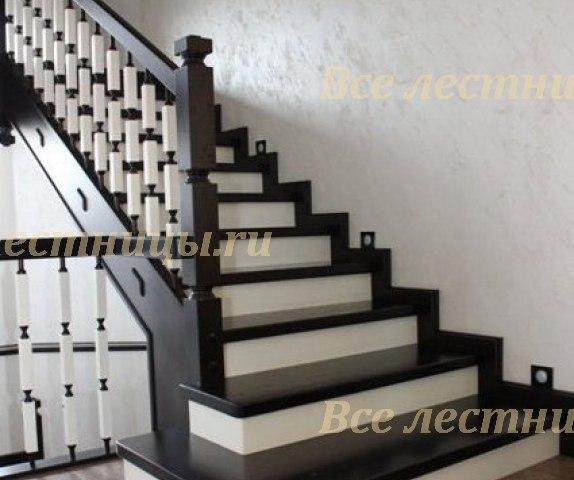 Деревянная лестница D-14 1
