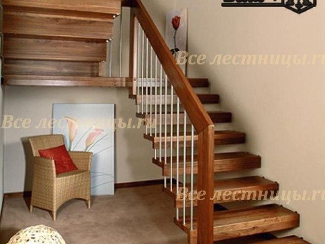 Деревянная лестница D-19 1