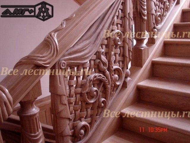 Деревянное лестничное ограждение DO-9 1