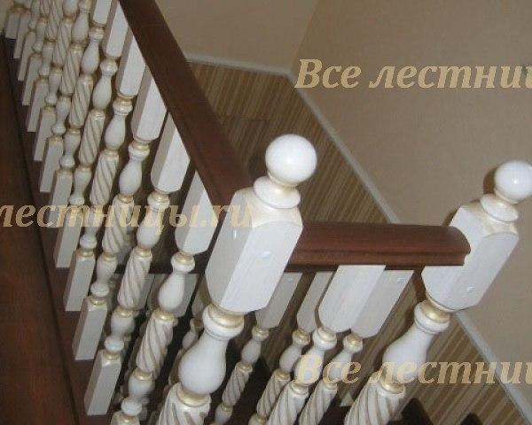 Деревянное лестничное ограждение DO-10 1