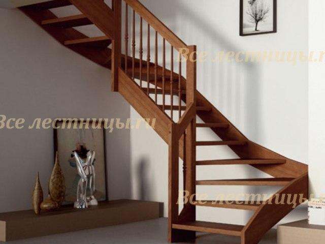 Деревянная лестница D-23 1