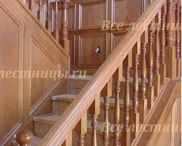 Деревянное лестничное ограждение DO-14 1