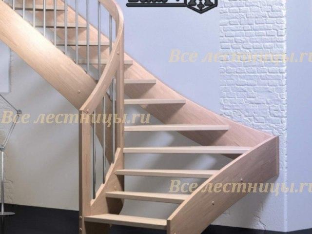 Деревянная лестница D-35 1
