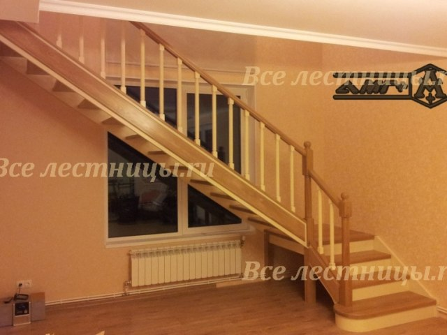 Деревянная лестница D-38 1