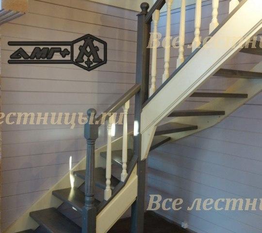 Деревянная лестница D-45 1
