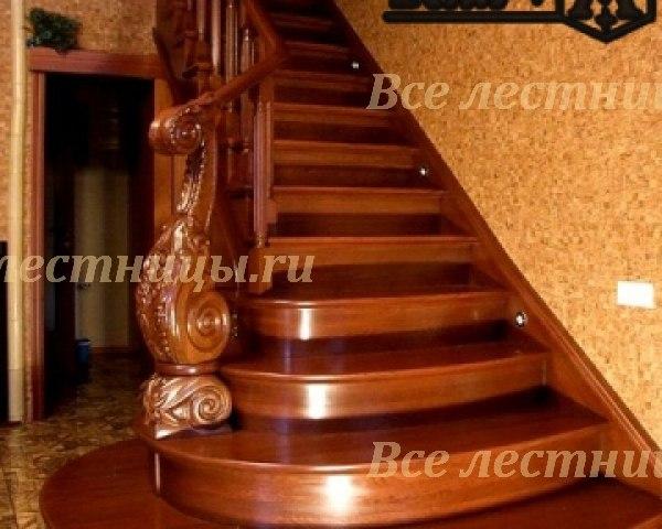 Деревянная лестница D-55 1