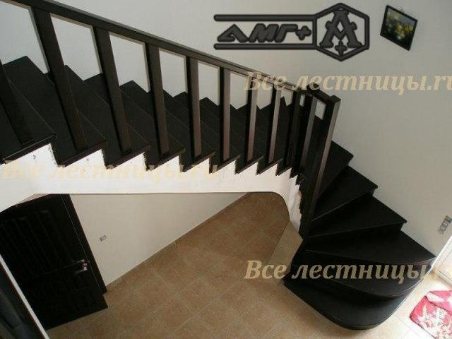 Деревянная лестница D-57 1