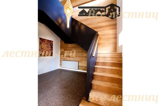 Комбинированная лестница CS_53 Ясень Цена Договорная 1