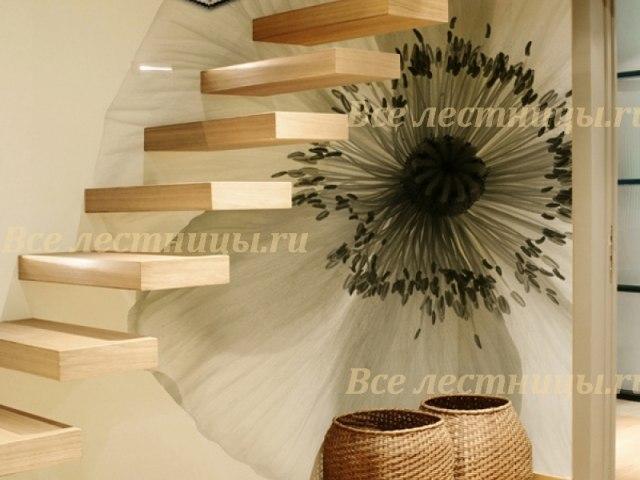 Деревянная лестница D-59 1