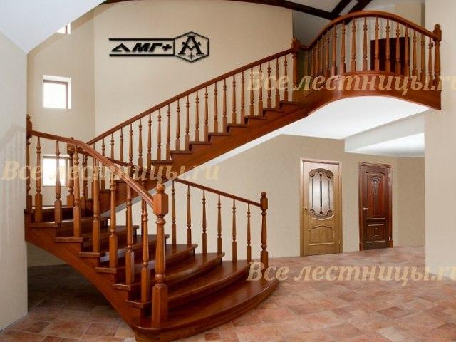 Деревянная лестница D-61 1