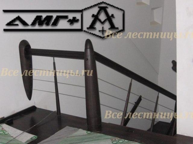 Металлическое лестничное ограждение MO-14 1