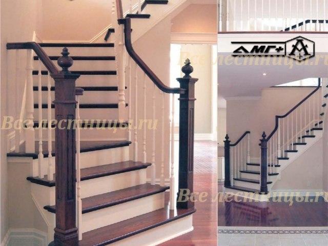 Деревянная лестница D-63 1