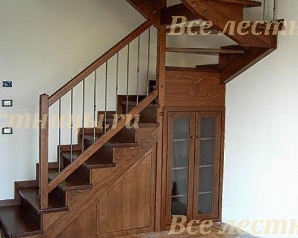Деревянная лестница D-74 1