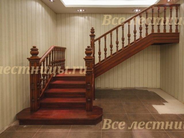 Деревянная лестница D-78 1