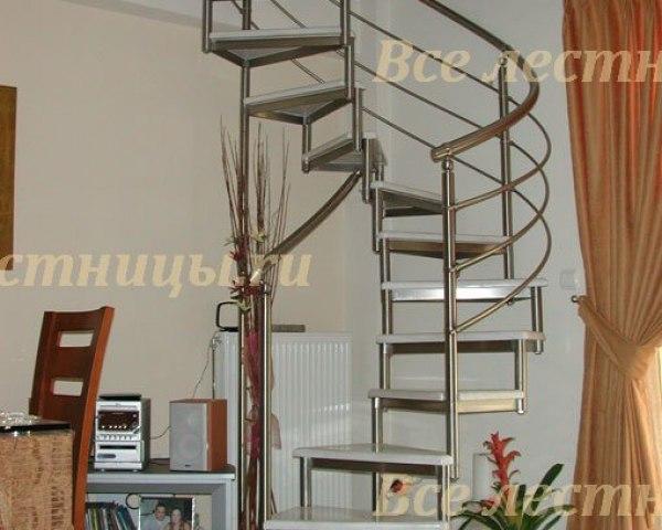 Лестница на металлическом каркасе M-34 1