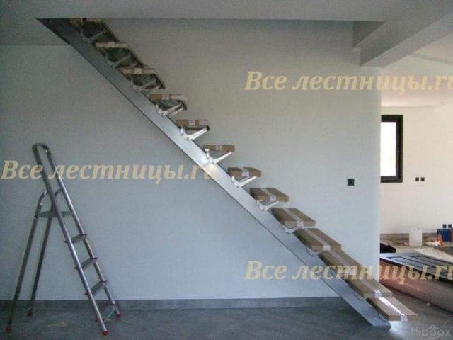 Лестница на металлическом каркасе M-43 1