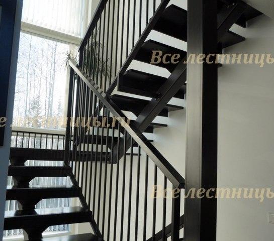 Лестница на металлическом каркасе M-45 1