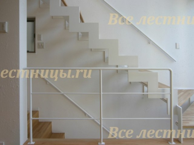 Лестница на металлическом каркасе M-52 1