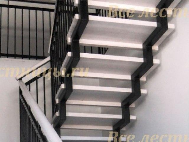 Лестница на металлическом каркасе M-58 1