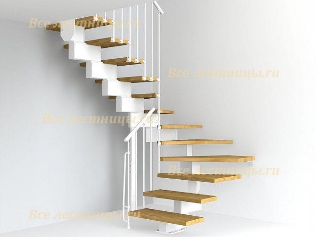 Лестница на металлическом каркасе M-59 1