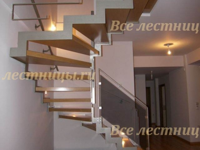 Лестница на металлическом каркасе M-69 1