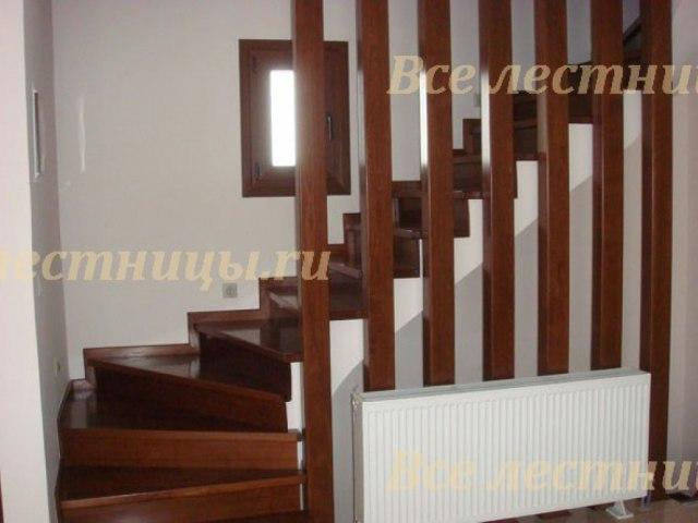 Деревянное лестничное ограждение DO-17 1