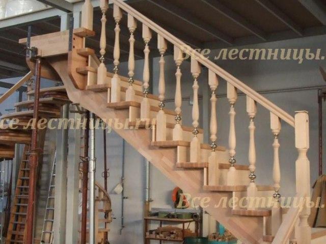 Деревянное лестничное ограждение DO-32 1