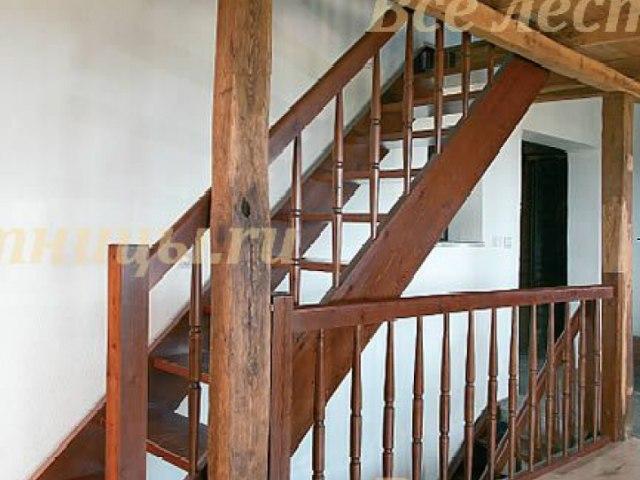 Деревянное лестничное ограждение DO-33 1