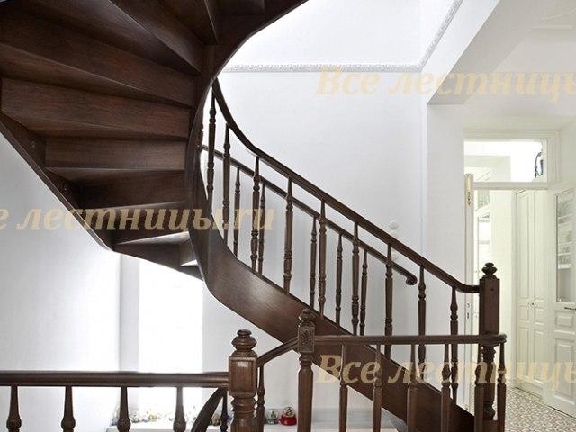 Деревянное лестничное ограждение DO-40 1