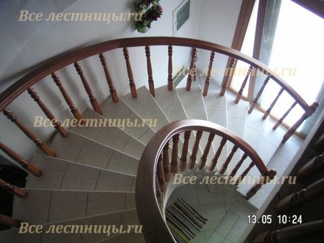 Деревянное лестничное ограждение DO-41 1