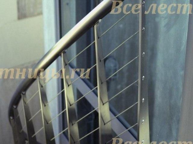 Лестничное ограждение из нержавеющей стали NS-18 1