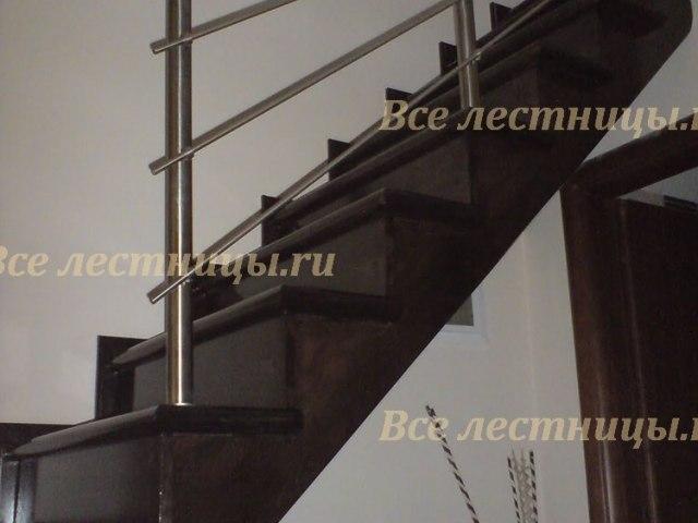 Лестничное ограждение из нержавеющей стали NS-16 1