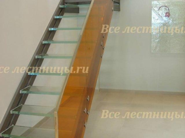 Стеклянное лестничное ограждение SO-9 1