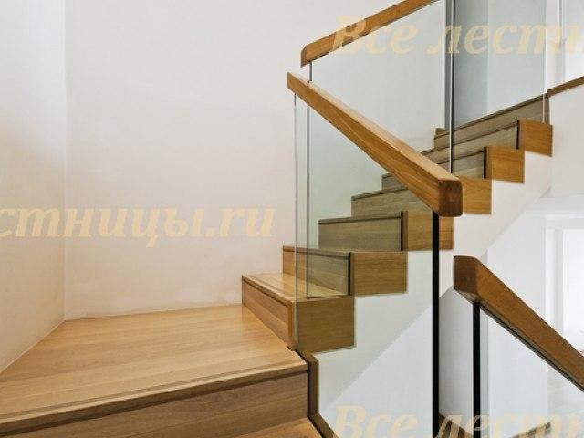 Стеклянное лестничное ограждение SO-22 1